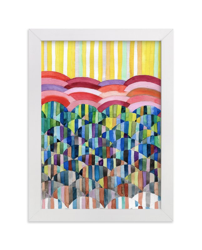 """""""Rainbow Fresh"""" - Art Print by Pooja Pittie in beautiful frame options and a variety of sizes."""