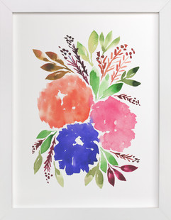 hand painted flowers_1C  Art Print