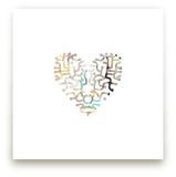 Heart Maze Wall Art Prints