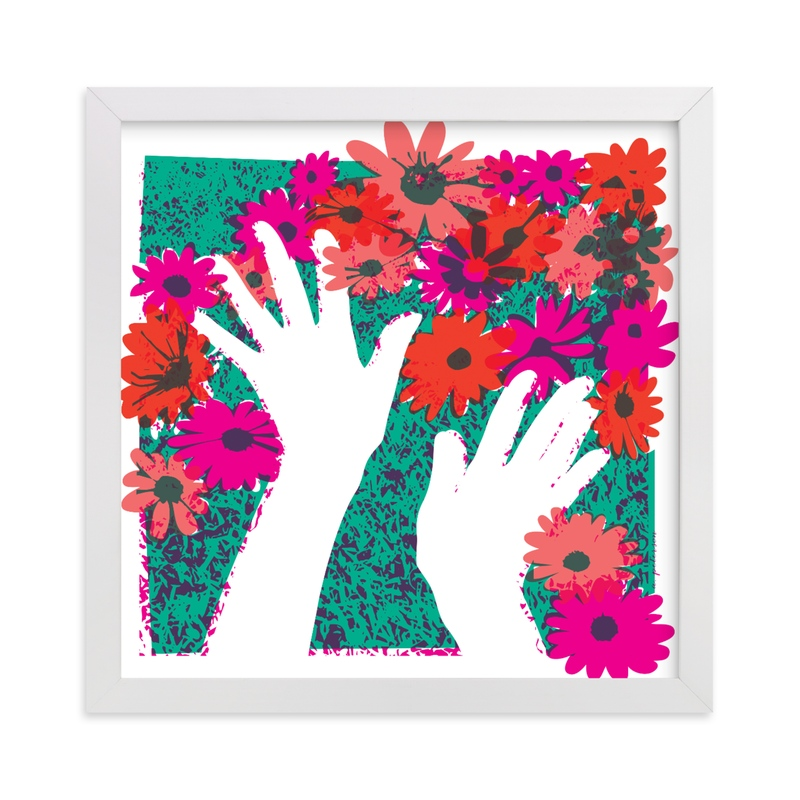 """""""Flower Hands"""" - Art Print by 2birdstone in beautiful frame options and a variety of sizes."""
