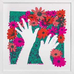 Flower Hands  Art Print