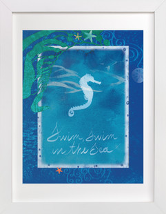 Swim in the Sea  Art Print