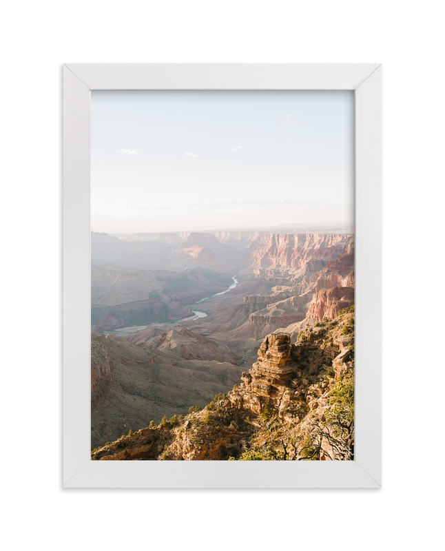 """Canyon River"" - Art Print by Anna Western in beautiful frame options and a variety of sizes."