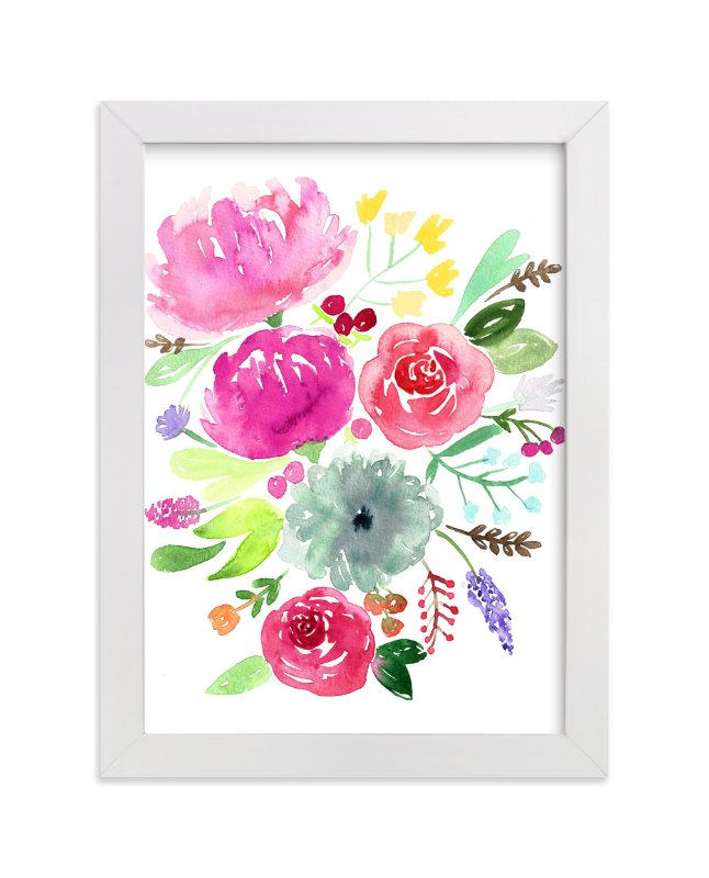 """June's Blossom"" - Art Print by Juliana Zimmermann in beautiful frame options and a variety of sizes."