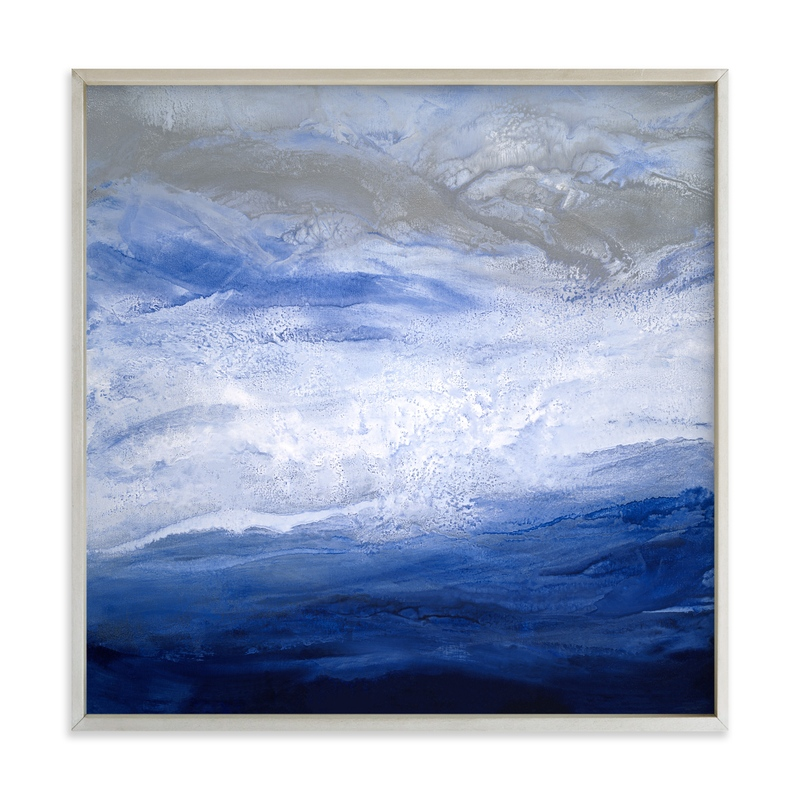 """""""starry seas I"""" - Art Print by Teodora Guererra in beautiful frame options and a variety of sizes."""
