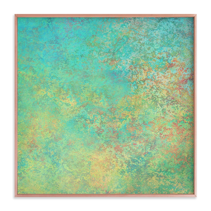 """""""Green Marble"""" - Art Print by Michelee Scott in beautiful frame options and a variety of sizes."""