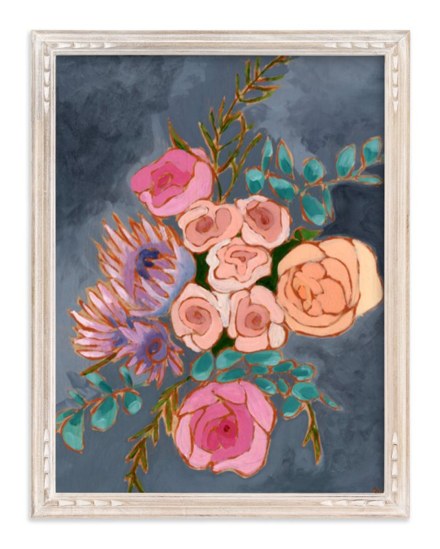 """""""A Bouquet for Kate floral"""" - Art Print by Jennifer Allevato in beautiful frame options and a variety of sizes."""