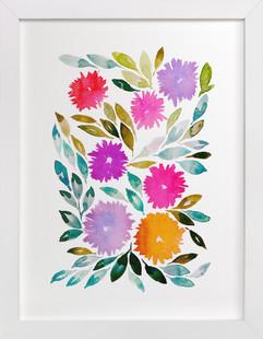 hand painted flowers_2C  Art Print