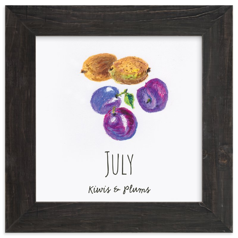 """""""July fruits"""" - Art Print by Kanika Mathur in beautiful frame options and a variety of sizes."""