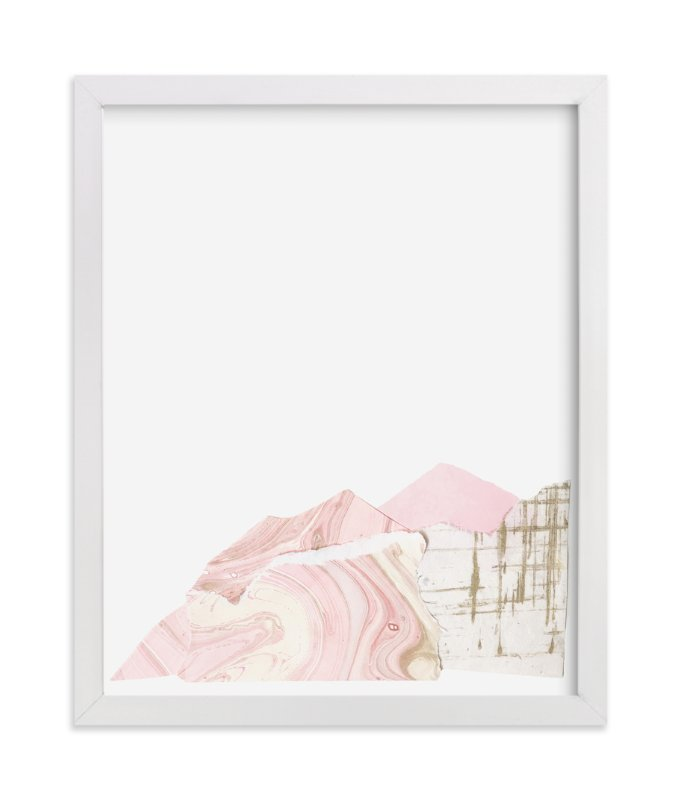 """""""Pink Marble Mountain Collage"""" - Art Print by Melanie Biehle in beautiful frame options and a variety of sizes."""