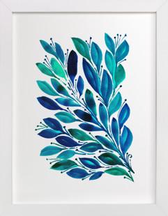 HAND PAINTED FLOWERS_4C  Art Print