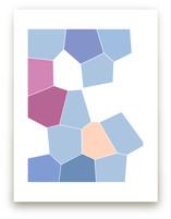 mosaic in blue by jennifer hallock