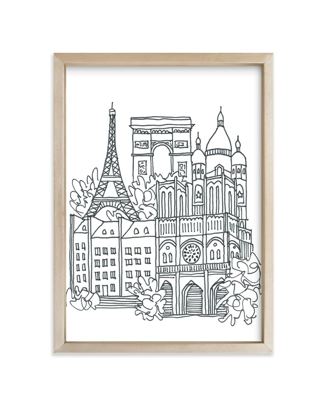"""Paris Sketchbook"" - Art Print by Krissy Bengtson in beautiful frame options and a variety of sizes."