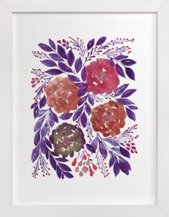 HAND PAINTED FLOWERS4M Art Print
