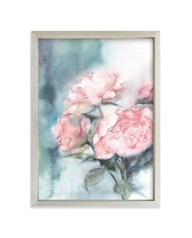 """""""Weeping Peonies"""" - Art Print by XL in beautiful frame options and a variety of sizes."""