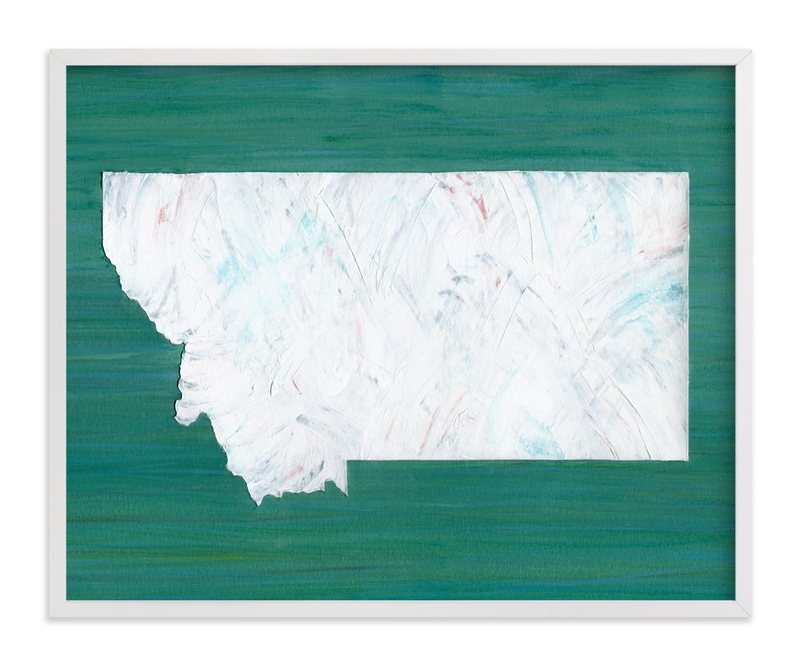 """""""Montana in Paint"""" - Art Print by Denise Wong in beautiful frame options and a variety of sizes."""