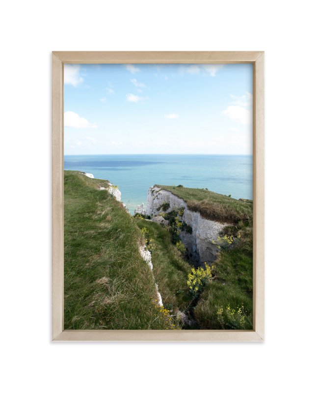 """""""White Cliffs"""" - Art Print by Krissy Bengtson in beautiful frame options and a variety of sizes."""