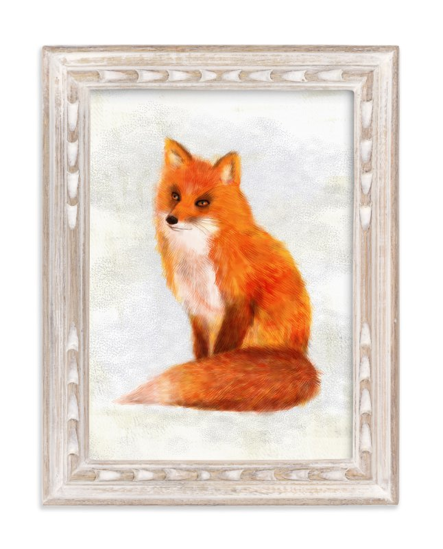 """""""Mr. Fox"""" - Art Print by iamtanya in beautiful frame options and a variety of sizes."""