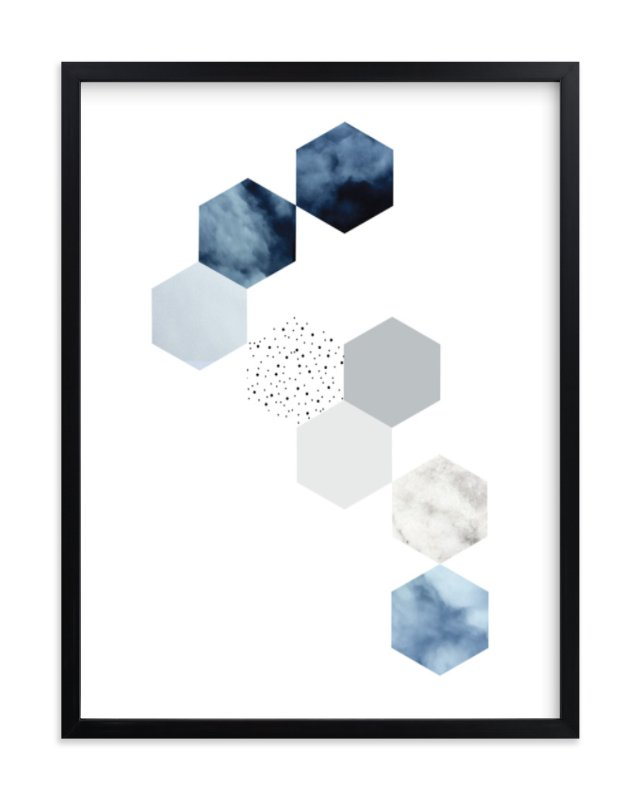 """Playing with the clouds"" - Art Print by Simi Gauba in beautiful frame options and a variety of sizes."