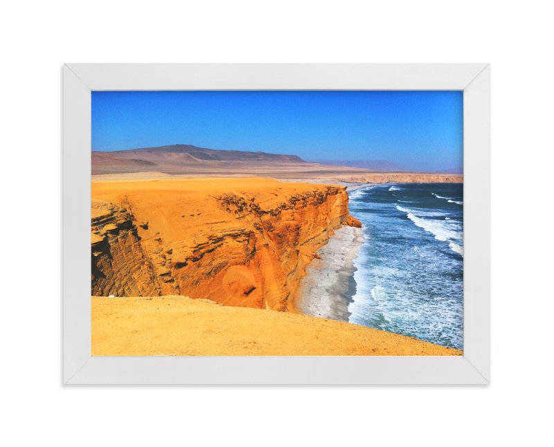 """Playa Roja"" - Art Print by Belia Simm in beautiful frame options and a variety of sizes."