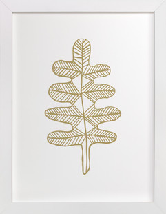 Tribal Leaf  Art Print