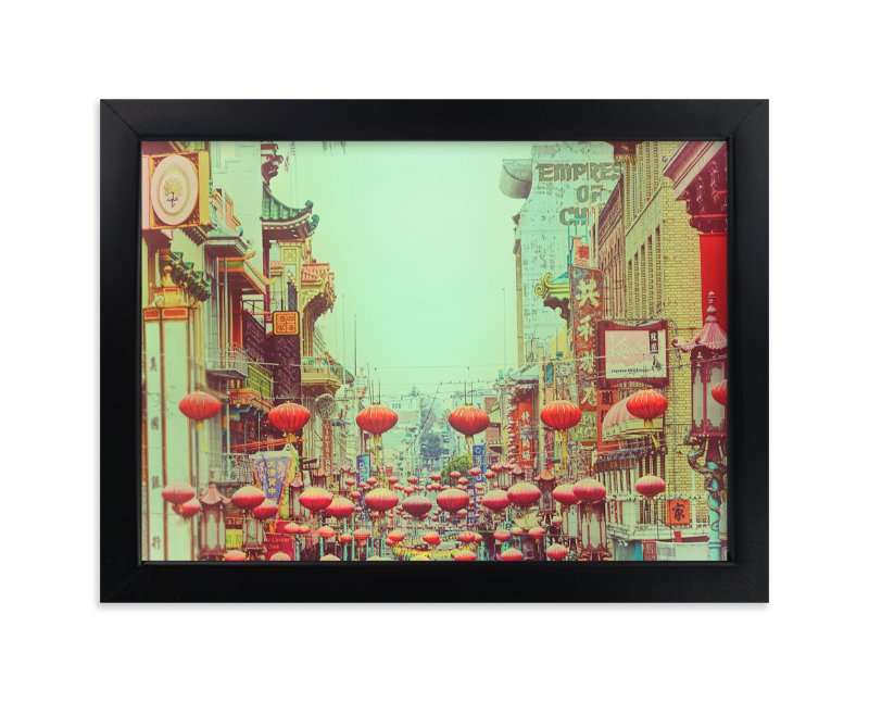 """""""Red Lanterns"""" - Art Print by Michelee Scott in beautiful frame options and a variety of sizes."""