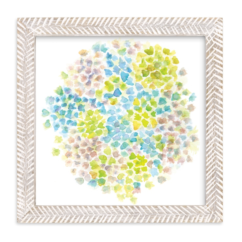 """Hydrangea in Bloom"" - Art Print by Jessica Baskin in beautiful frame options and a variety of sizes."