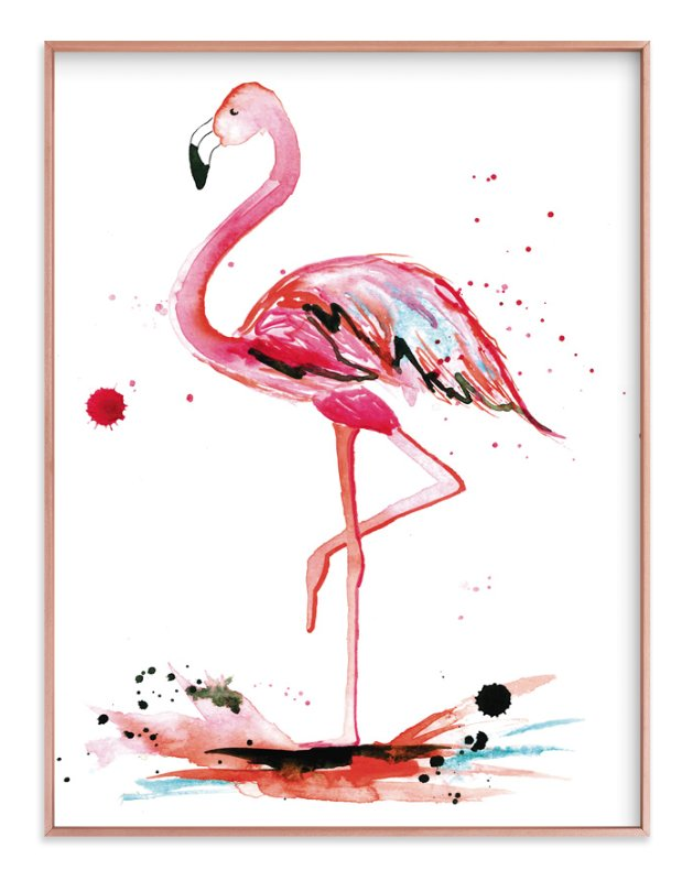 Pink Flamingo Wall Art Prints By Kelsey Mcnatt Minted