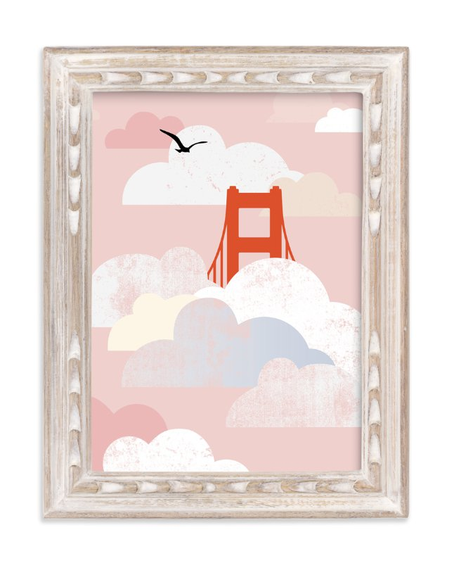 """Golden Gate Fog"" - Art Print by sue prue in beautiful frame options and a variety of sizes."