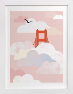 Golden Gate Fog  Art Print