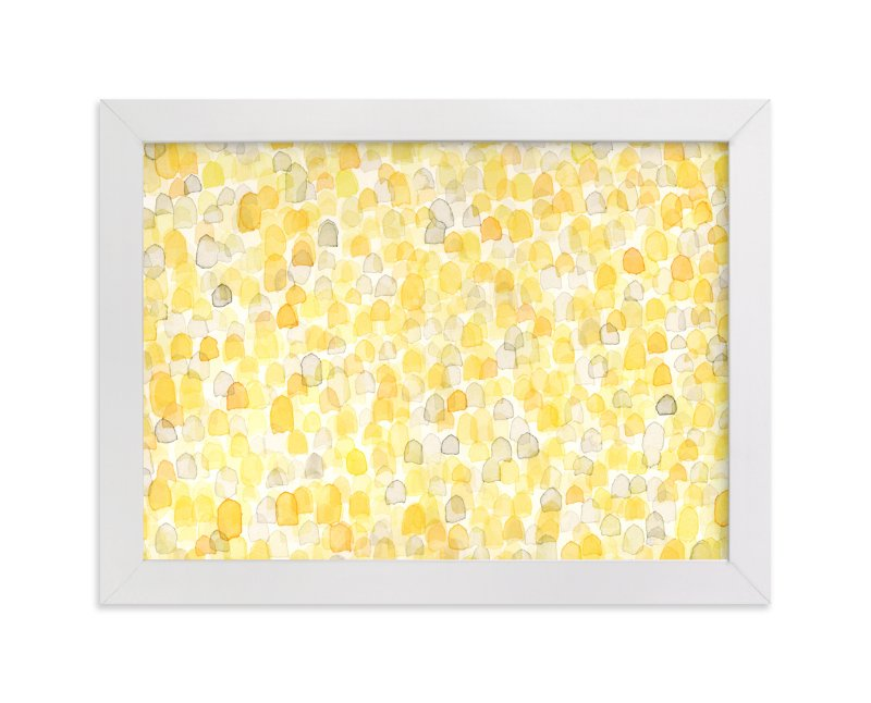 """""""Abstract Amber Field"""" - Art Print by Pamela Steiner in beautiful frame options and a variety of sizes."""