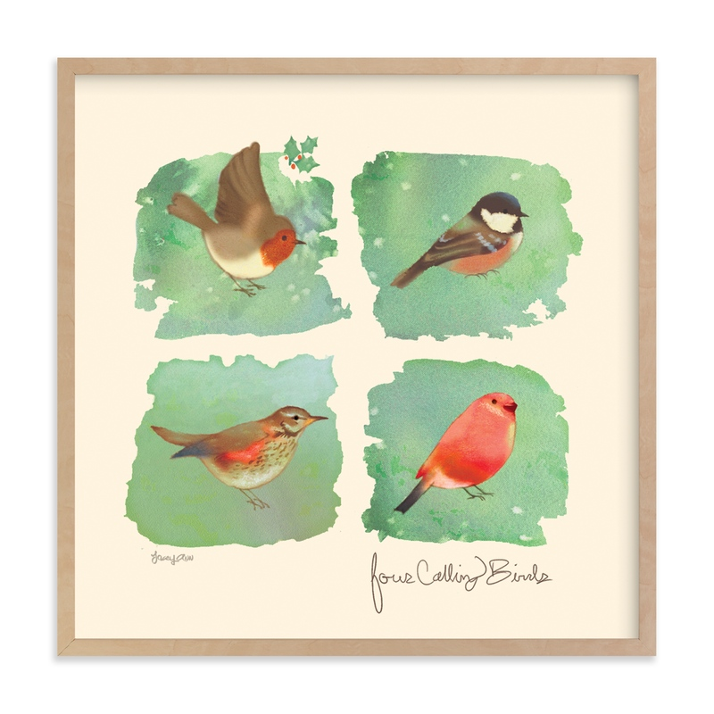 Calling birds Art Print
