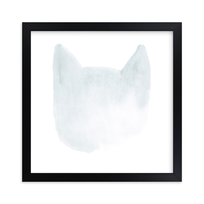 """White Cat Black Cat"" - Art Print by Susanna Nousiainen in beautiful frame options and a variety of sizes."