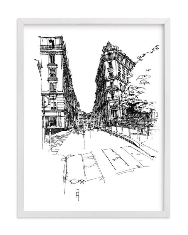 """""""Paris 1"""" - Art Print by IMG_101 in beautiful frame options and a variety of sizes."""