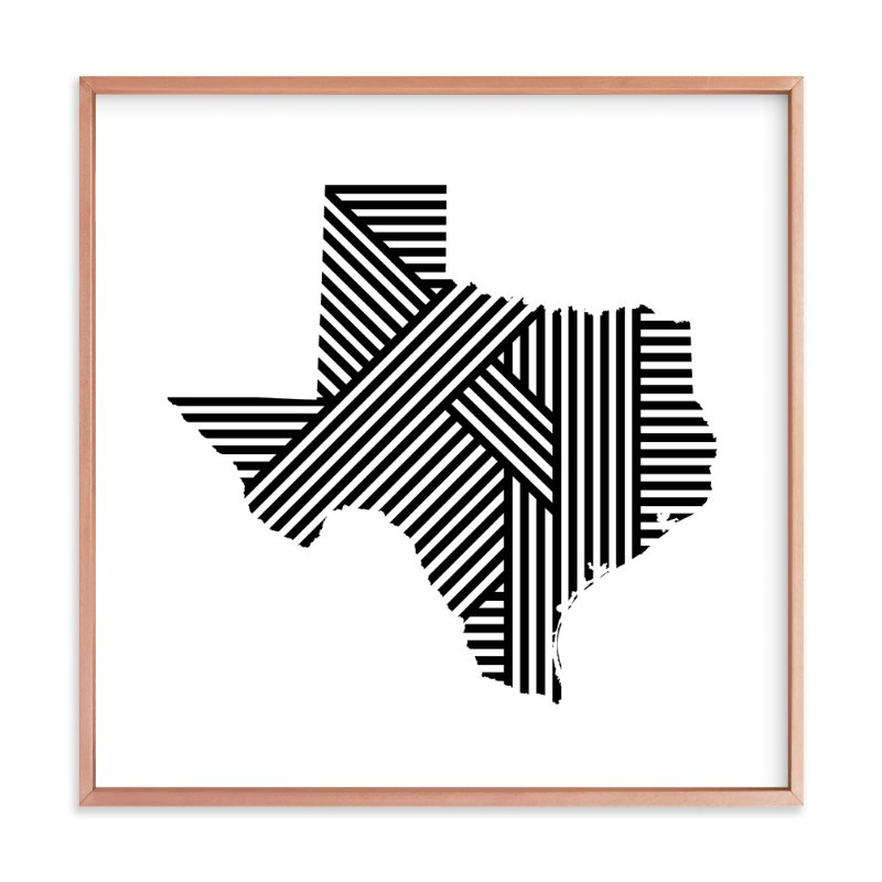 """State Lines, Texas"" - Art Print by Owl and Toad in beautiful frame options and a variety of sizes."