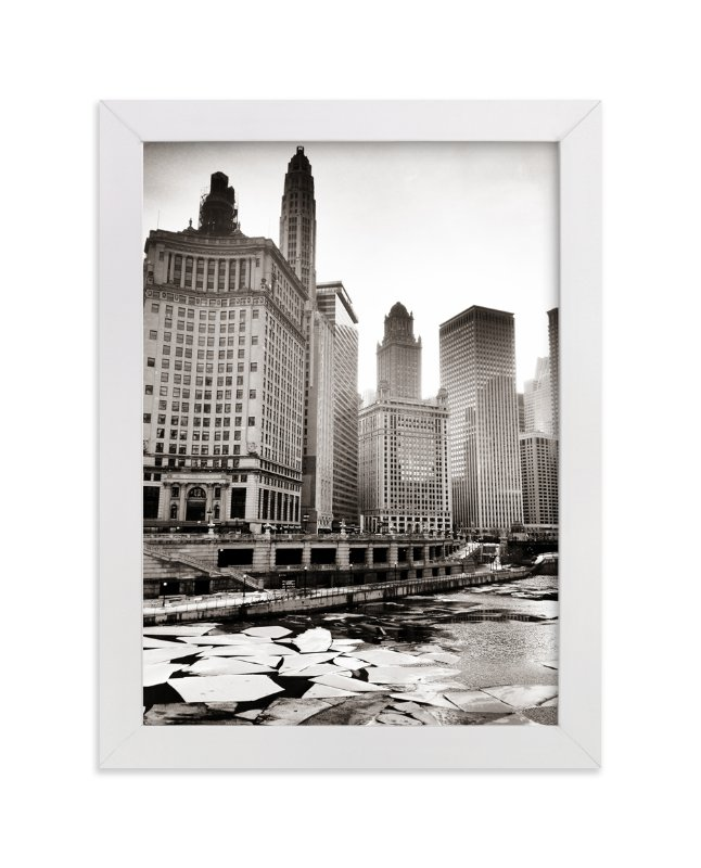"""Chicago Winter"" - Art Print by LemonBirch Design in beautiful frame options and a variety of sizes."