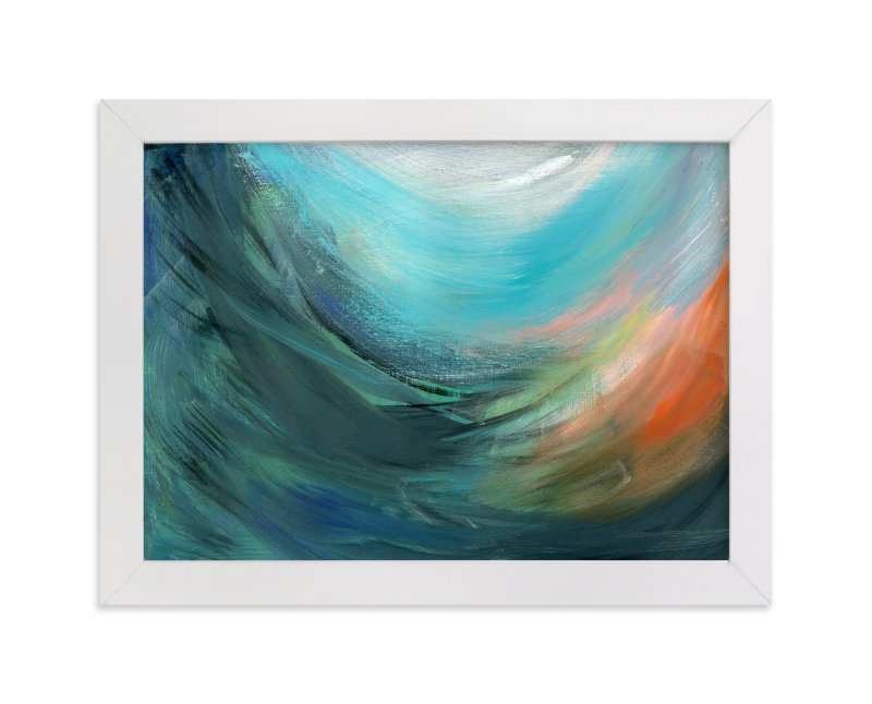 """""""Inside the Wave"""" - Art Print by Monica Janes Fine Art in beautiful frame options and a variety of sizes."""