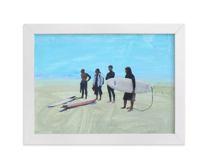 """""""Surf Gang, Venice Beach"""" - Art Print by Annie Seaton in beautiful frame options and a variety of sizes."""