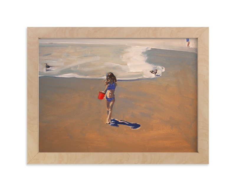 """Oxnard Violet 1"" - Art Print by Annie Seaton in beautiful frame options and a variety of sizes."