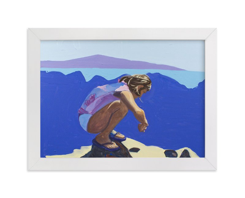 """""""Violet Tidepools"""" - Art Print by Annie Seaton in beautiful frame options and a variety of sizes."""