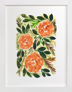 hand painted flowers_3G  Art Print