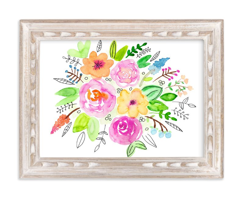 """""""Flourish Watercolor"""" - Art Print by Juliana Zimmermann in beautiful frame options and a variety of sizes."""