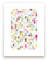 Pink and Gray Squares by Yao Cheng