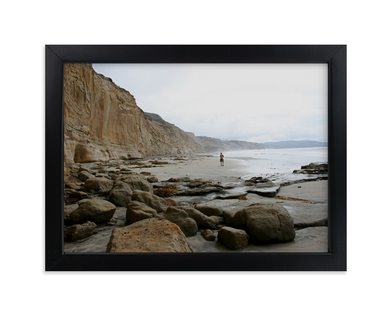"""""""Beach Runner"""" - Art Print by AJD in beautiful frame options and a variety of sizes."""
