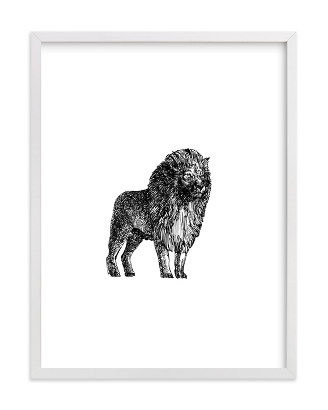 """Le Lion"" - Art Print by IMG_101 in beautiful frame options and a variety of sizes."