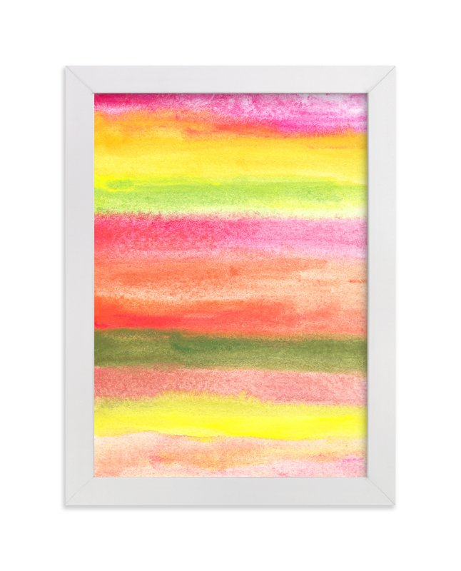 """""""painted abstract stripes"""" - Art Print by aticnomar in beautiful frame options and a variety of sizes."""