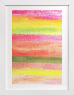 painted abstract stripes  Art Print