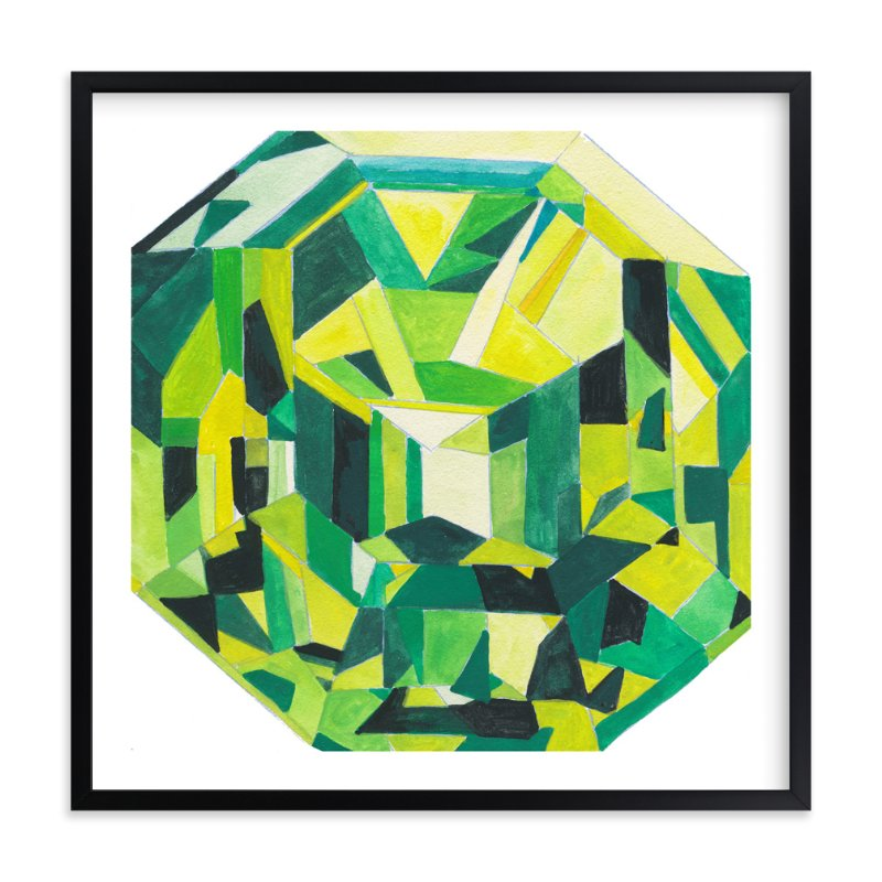 """Peridot"" - Art Print by Paper Monkey Press in beautiful frame options and a variety of sizes."