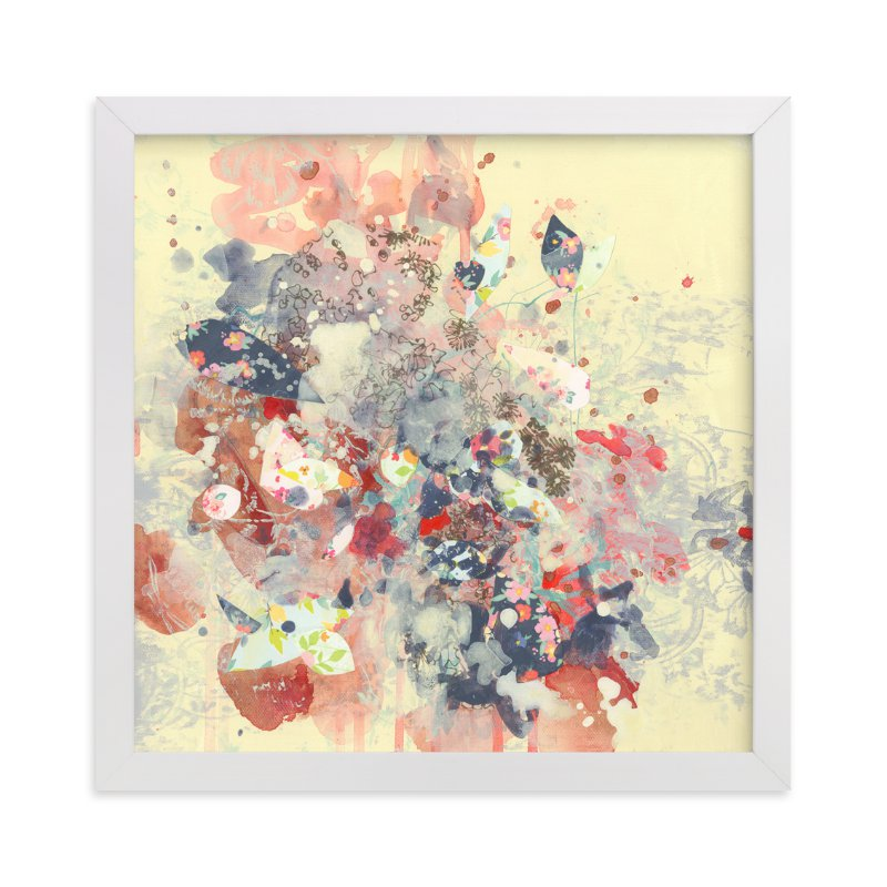 """""""Cream Series (Cream 1)"""" - Art Print by Kathryn Neale in beautiful frame options and a variety of sizes."""