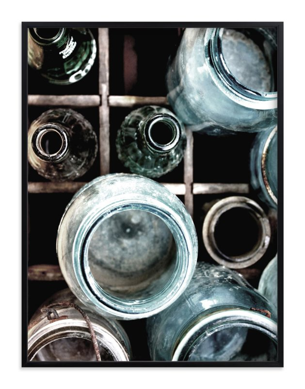"""Bottles II"" - Art Print by Debra Pruskowski in beautiful frame options and a variety of sizes."